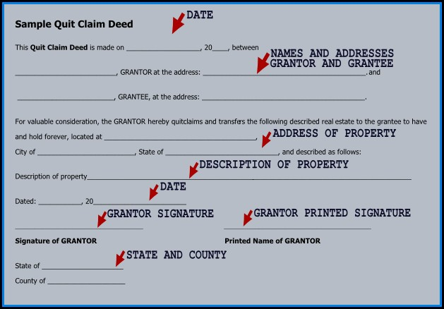 Where To Get A Quit Claim Deed Form