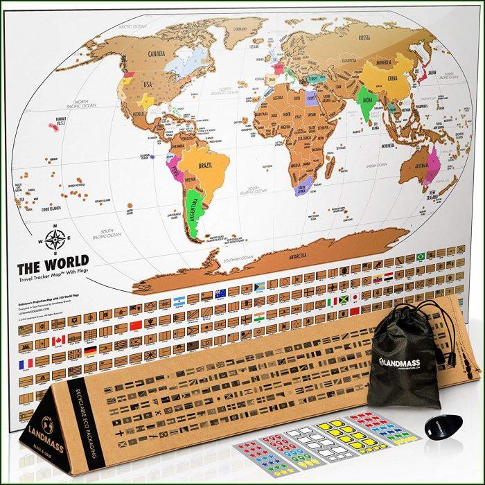 World Travel Tracker Map Scratch Off