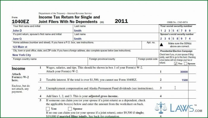 Ez Tax Form Online