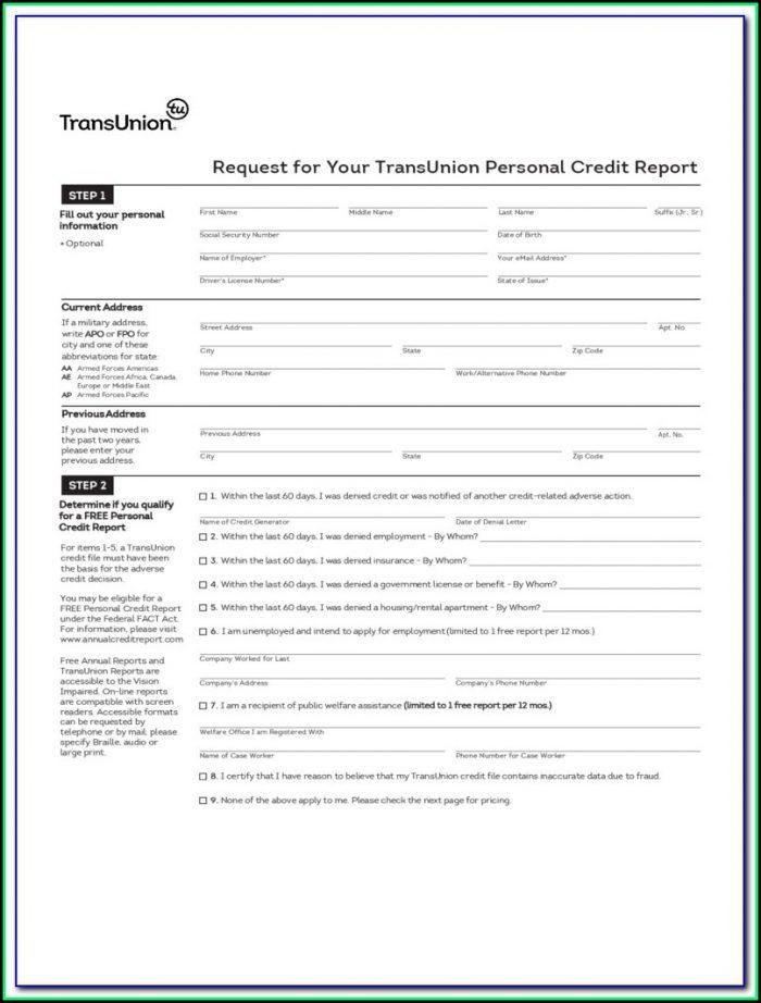 Free Credit Report Dispute Forms