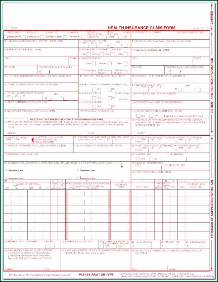 Free Hcfa 1500 Form