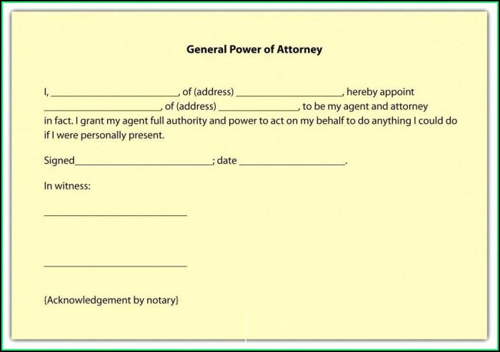 Free Printable Durable Power Of Attorney Form Florida