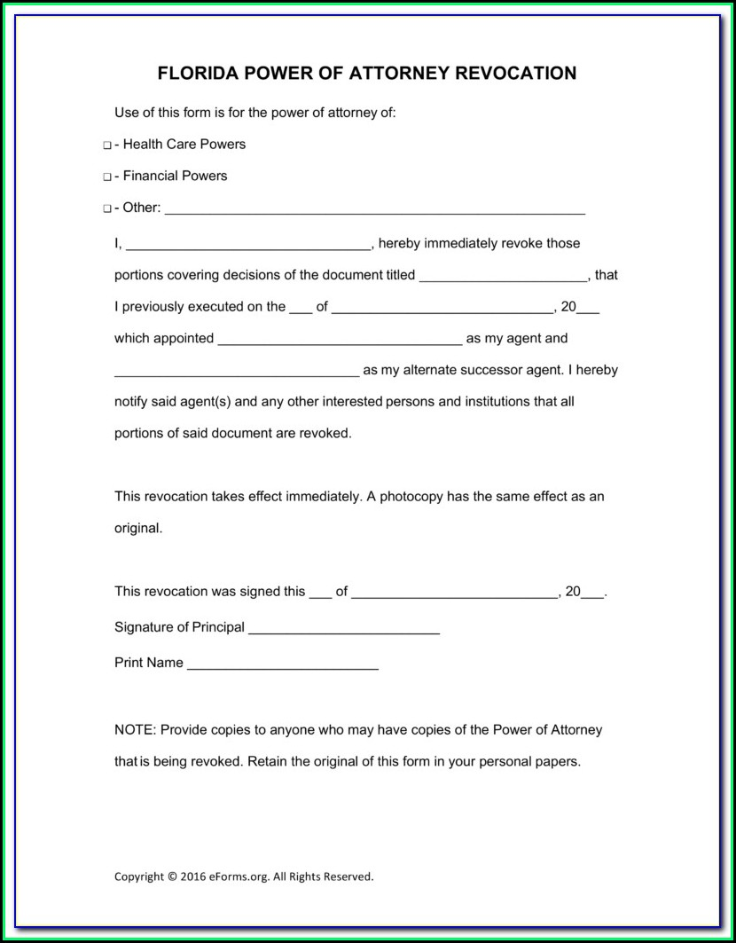 picture relating to Free Printable Power of Attorney Form Florida named No cost Printable Overall Electricity Of Legal professional Kind Florida - Style