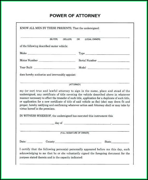 Free Printable Limited Power Of Attorney Form Florida