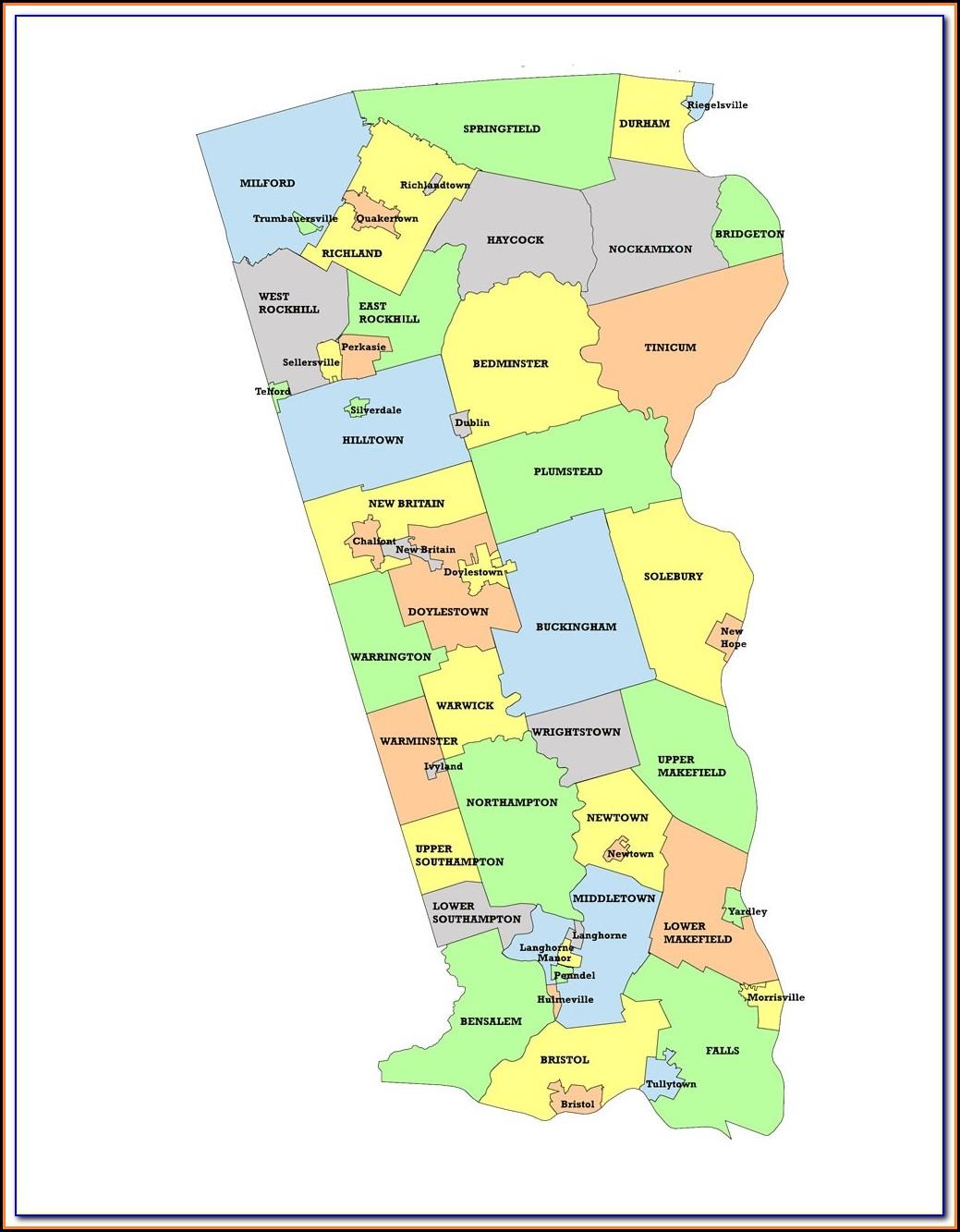 1876 Map Of Bucks County Pa