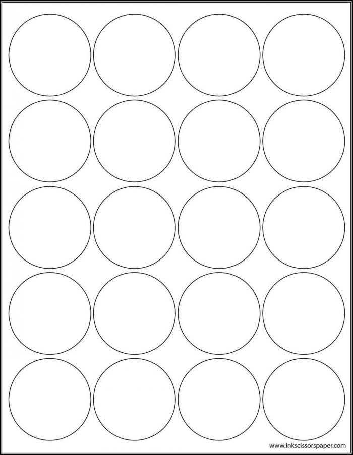2 Inch Round Template