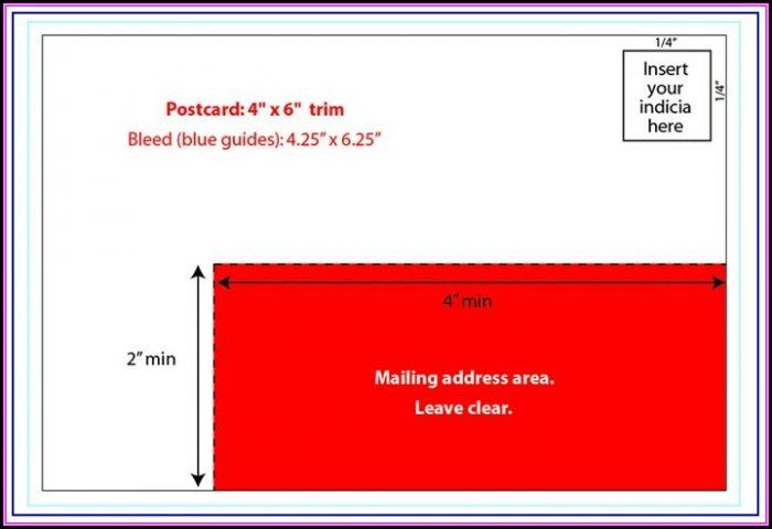 6x9 Postcard Template Usps