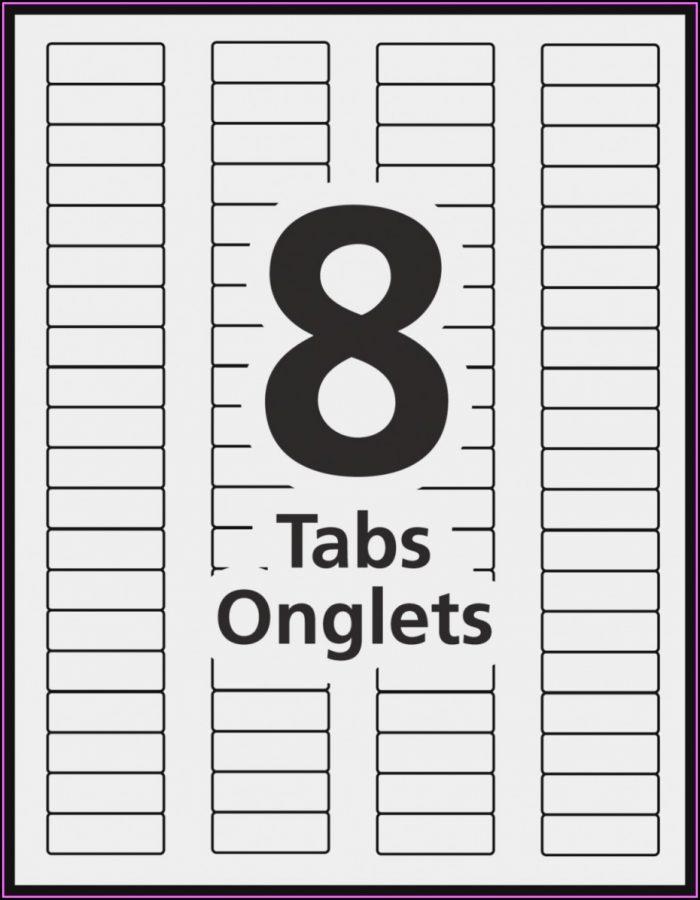 8 Tab Divider Template Office Depot