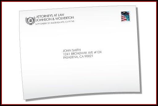 9x12 Envelope Printing Template