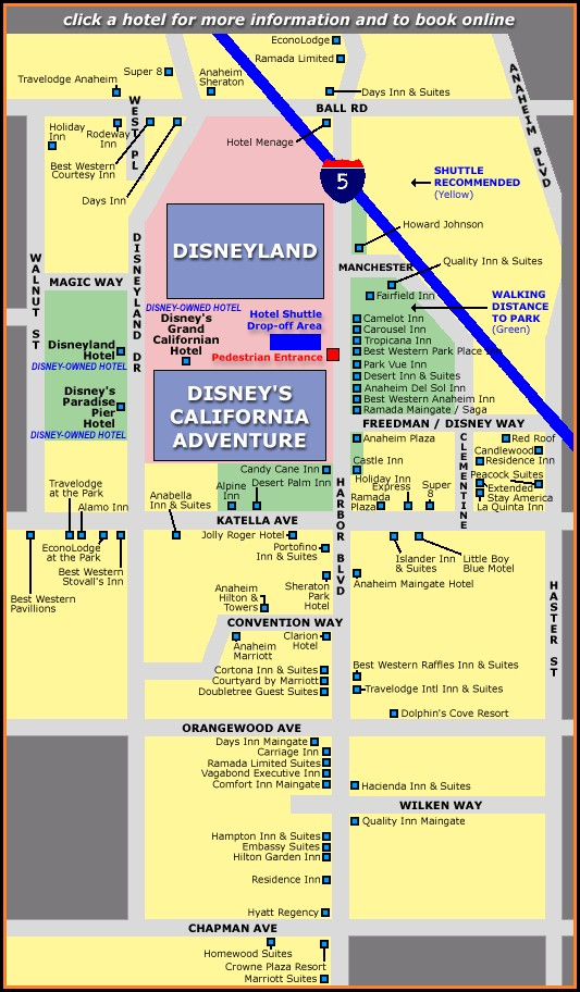 Anaheim Hotels Map