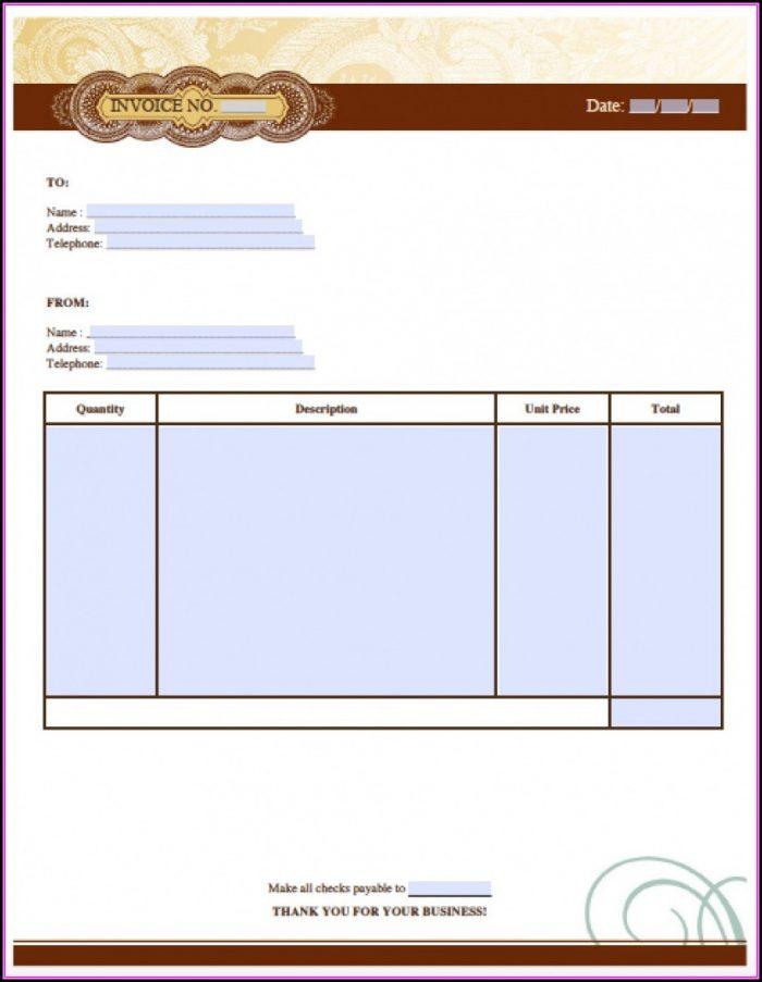 Artist Invoice Format