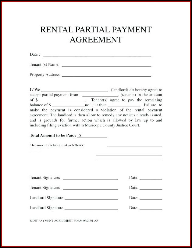 Auto Rental Form Templates