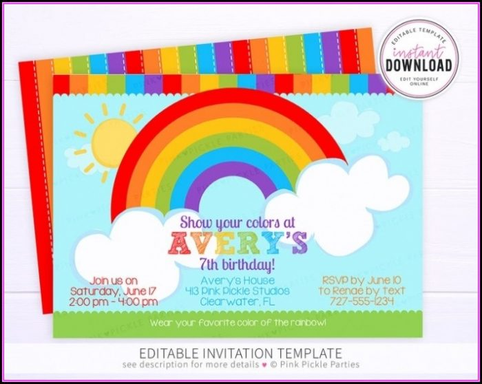 Avery Birthday Invitation Templates