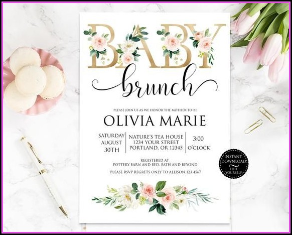 Baby Brunch Invitation Template