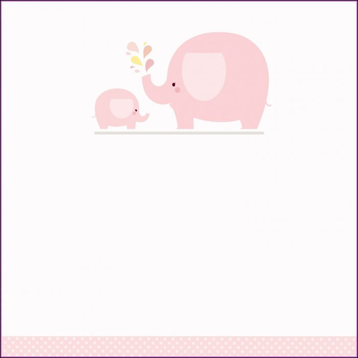 Baby Shower Elephant Template Girl