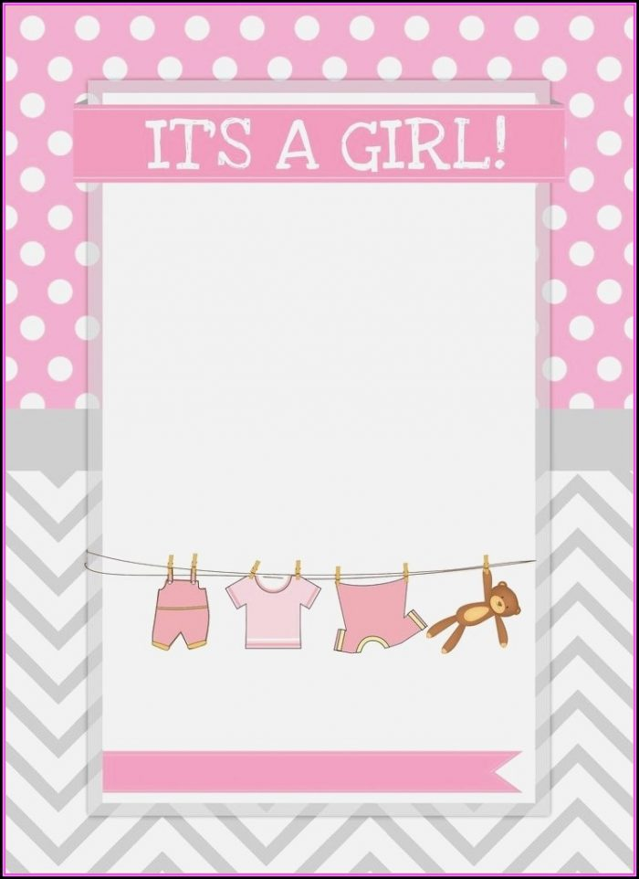 Baby Shower Templates Girl