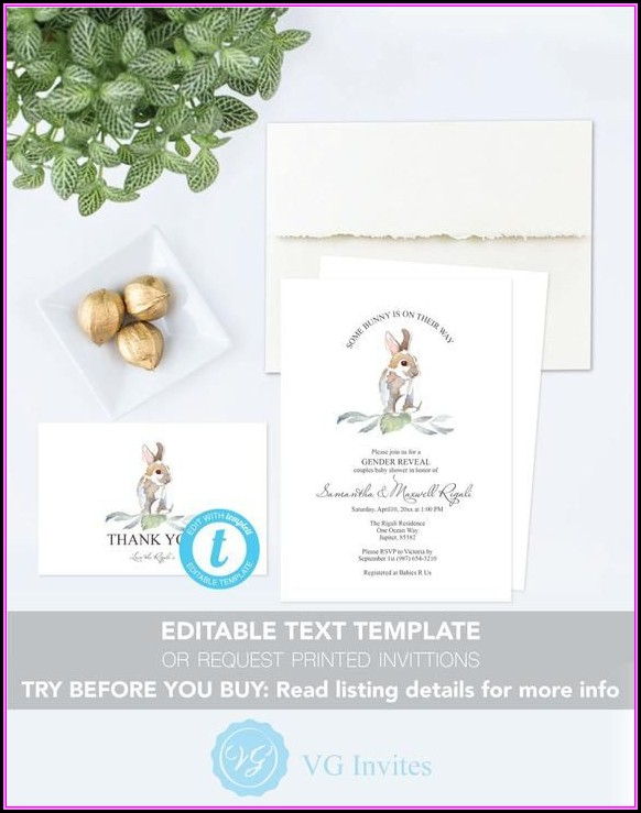 Baby Shower Thank You Card Template Free