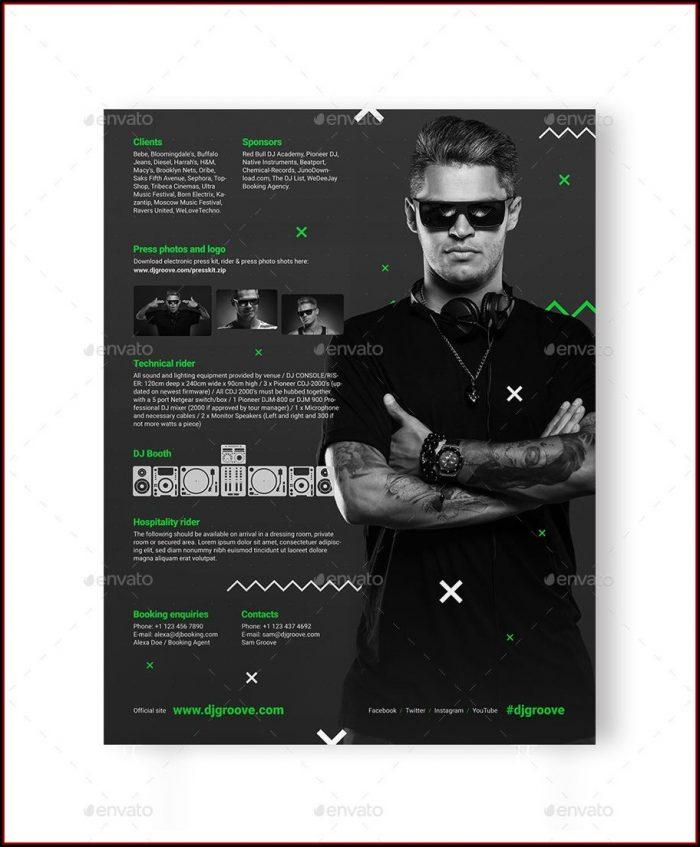 Band Press Kit Template Psd