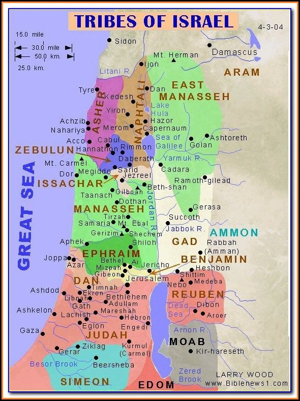 Bible Map Bethany Jerusalem