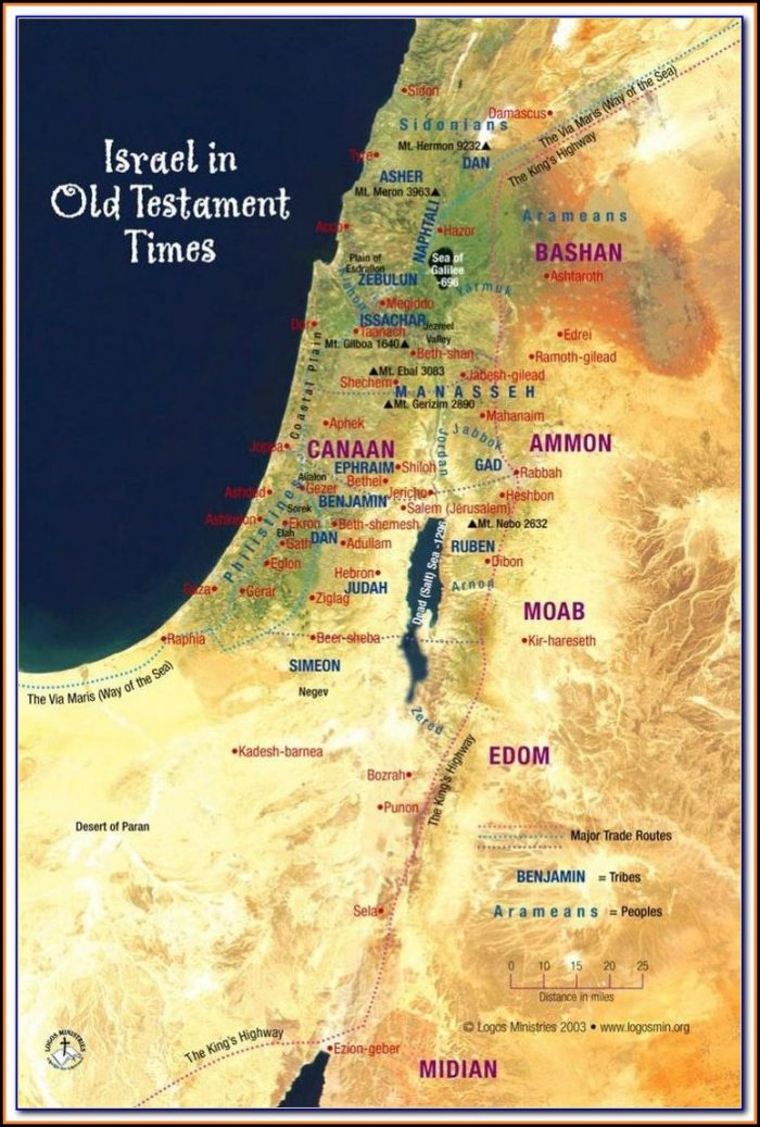 Bible Map Jerusalem To Damascus
