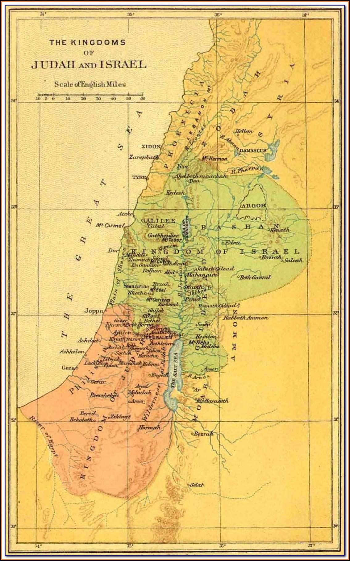 Bible Map Of Jerusalem Judea And Samaria