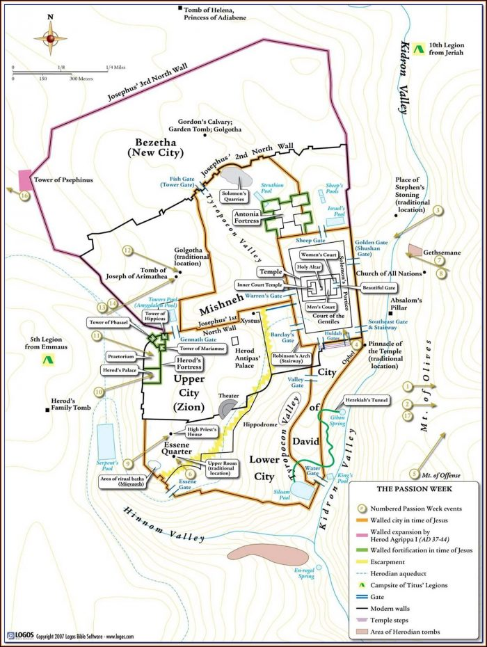 Bible Map Of Nazareth To Jerusalem