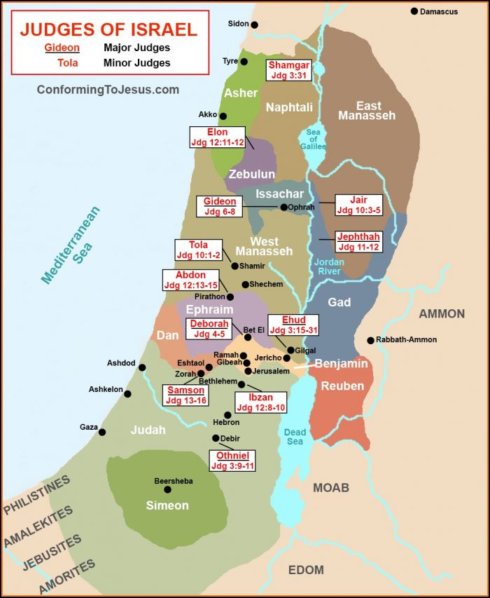 Biblical Map Of Israel