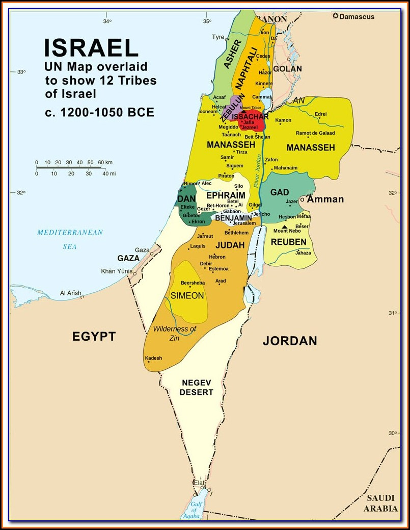 Biblical Maps Of Israel In Old Testament