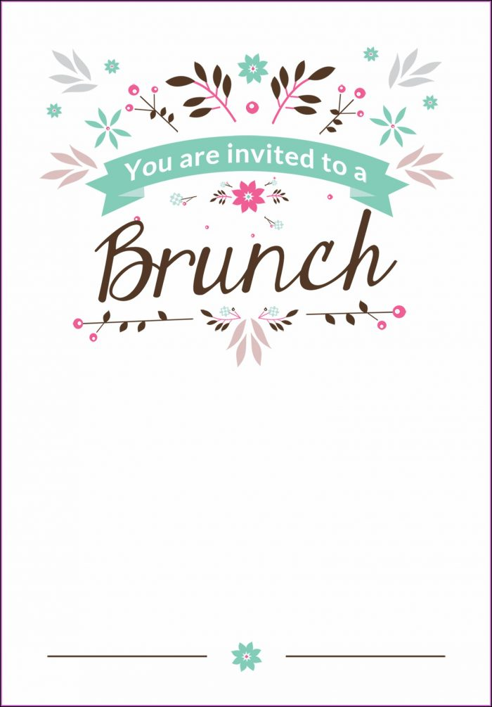 Birthday Brunch Invitation Template