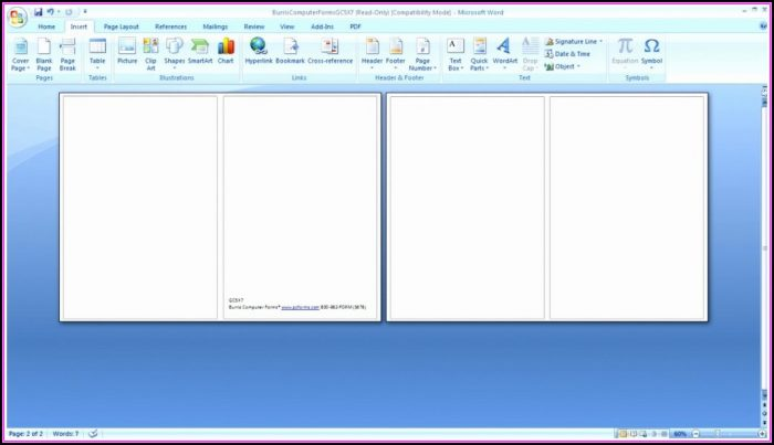 Blank Business Card Template Microsoft Word 2010