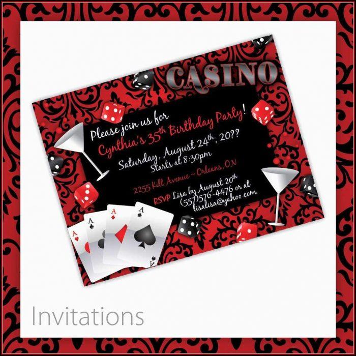 Casino Night Invitation Template Free