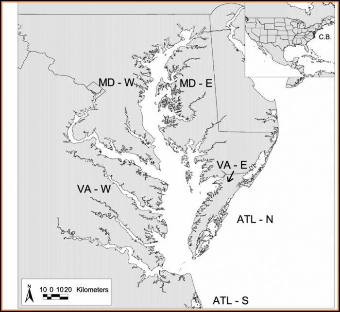 Chesapeake Bay Map Labeled