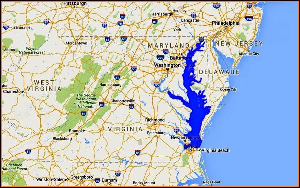 Chesapeake Bay Map Rivers