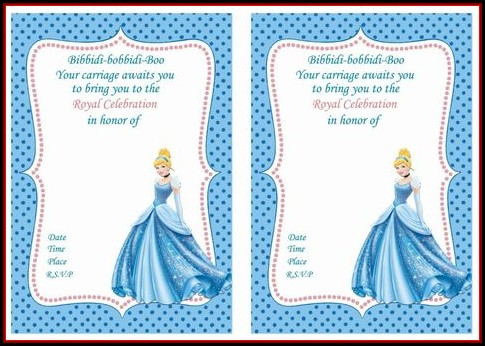 Cinderella Birthday Invitation Template