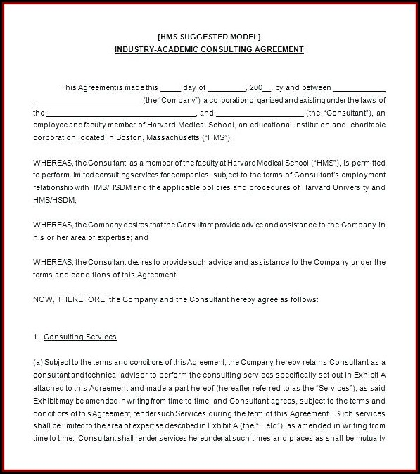 Consultant Terms And Conditions Template Uk