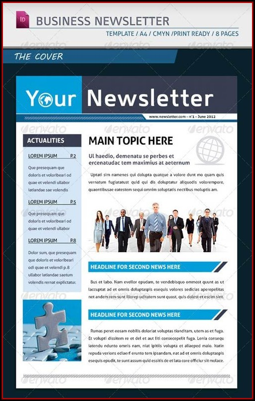 Corporate Monthly Newsletter Template