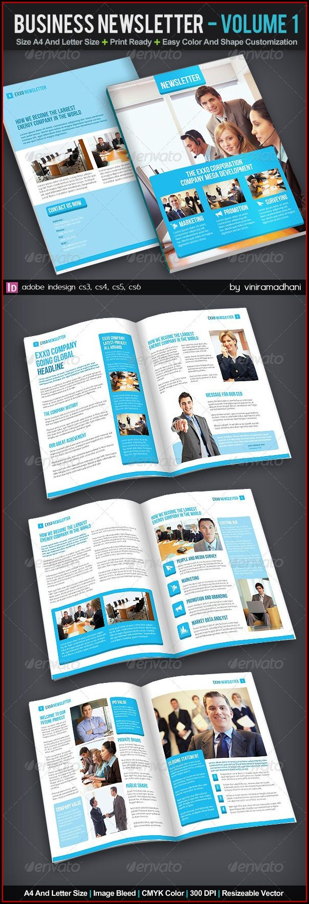 Corporate Newsletter Templates Ppt