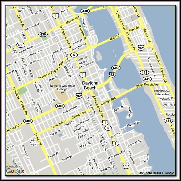 Daytona Beach Shores Hotel Map