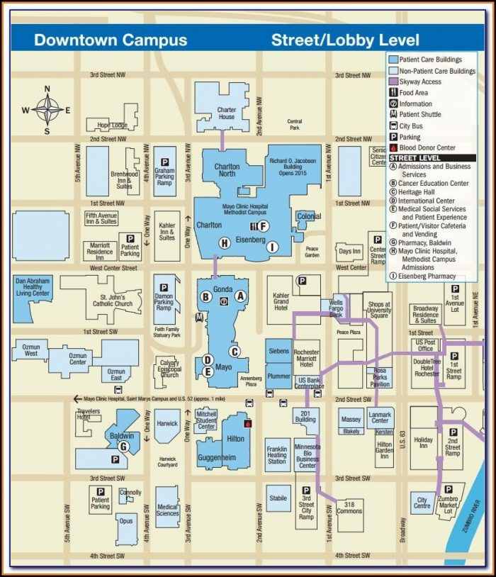 Downtown Rochester Mn Hotel Map