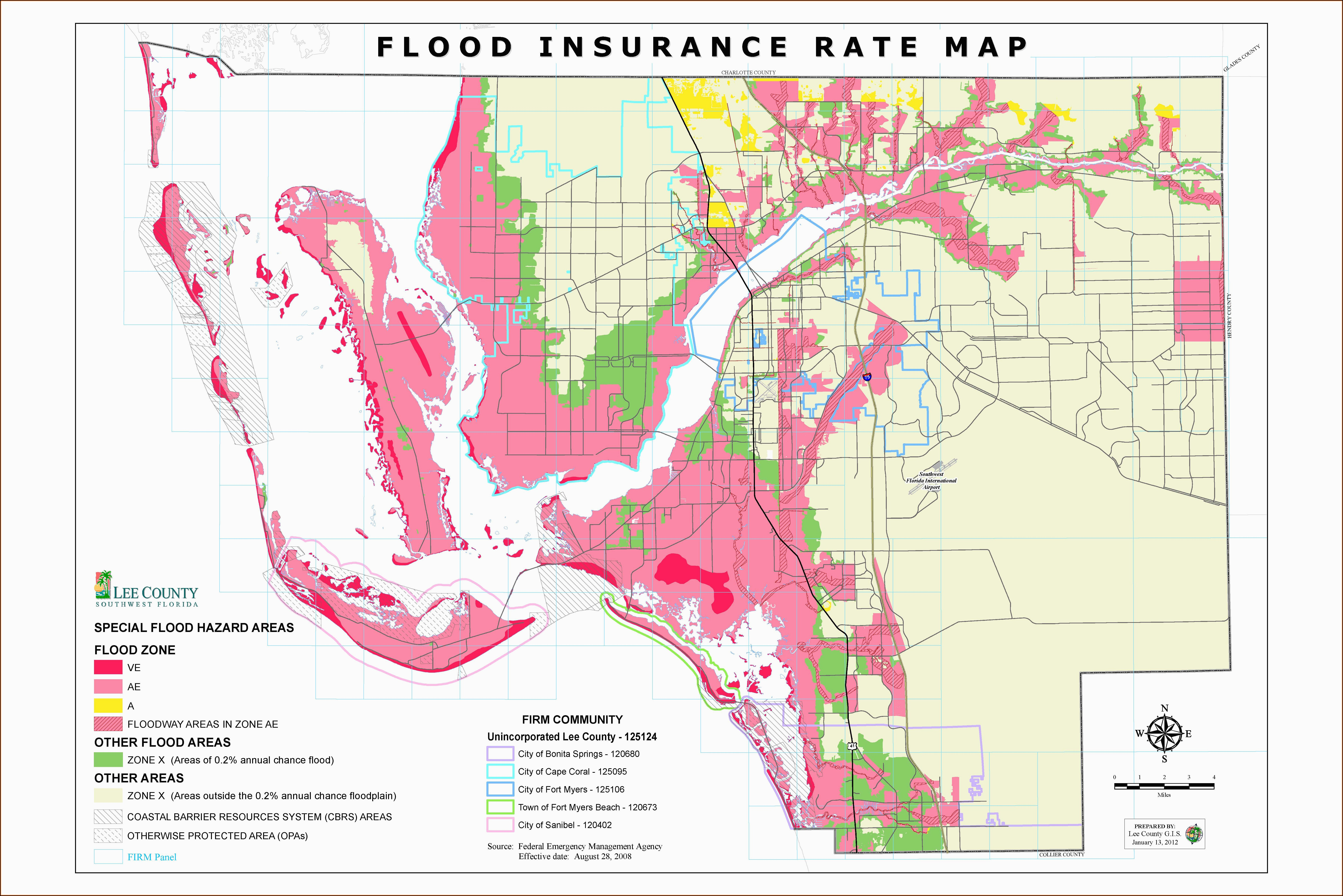 Flood Insurance Rate Map Cape Coral Florida