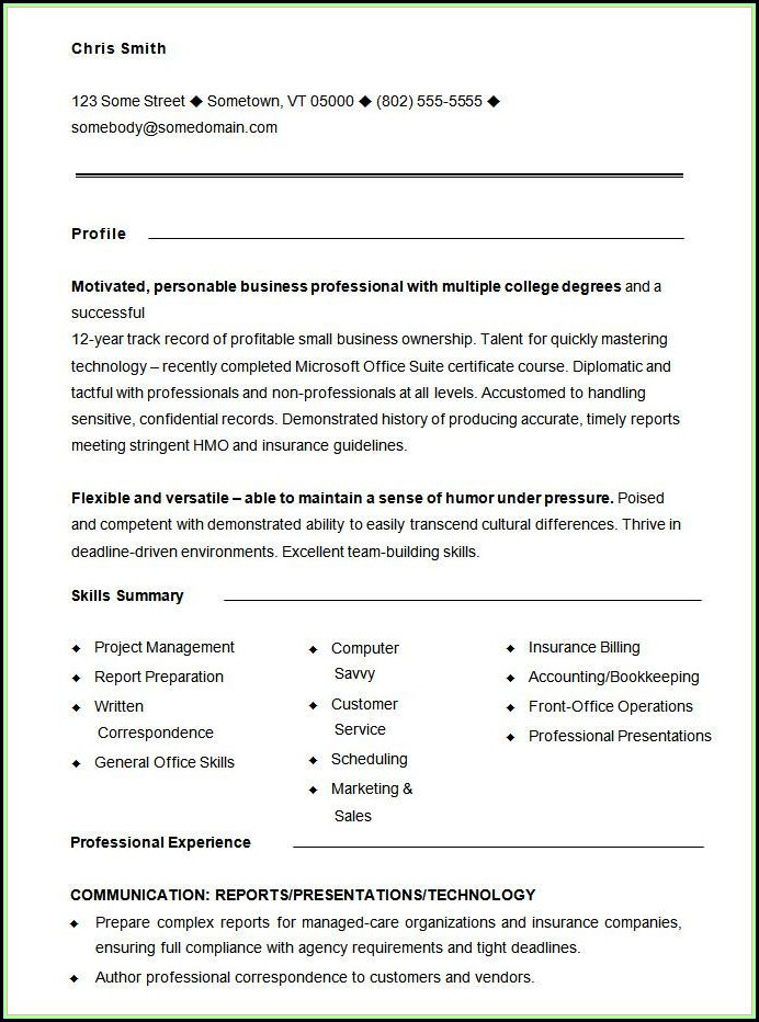Free Functional Resume Templates Word