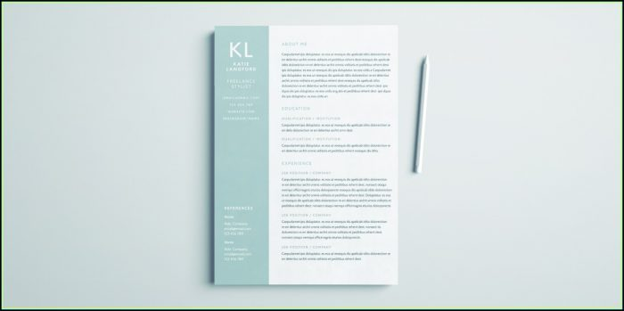Free Indesign Resume Template Download