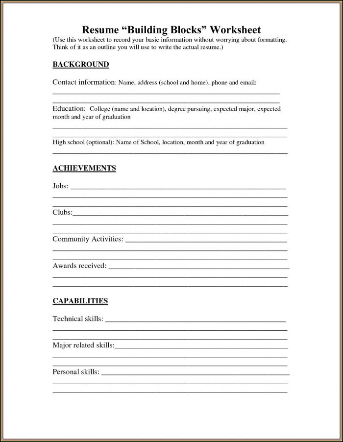 Free Printable Resume Builder Australia