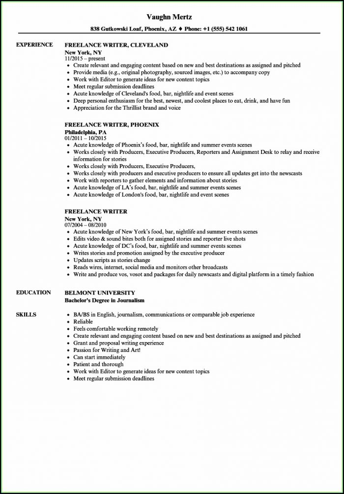 Freelance Resume Writer