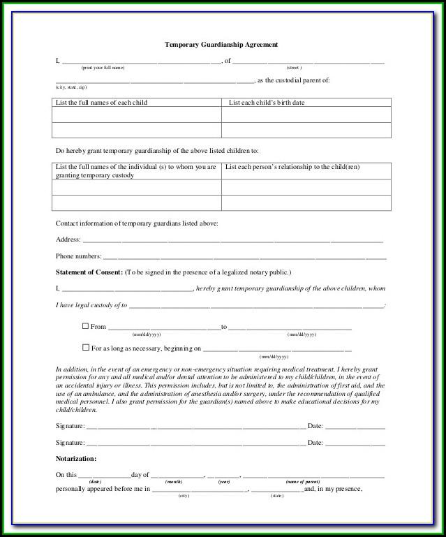 Grandparents Temporary Custody Form