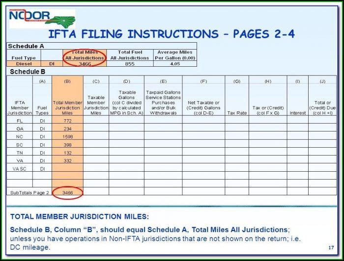 Ifta Mileage Report Form