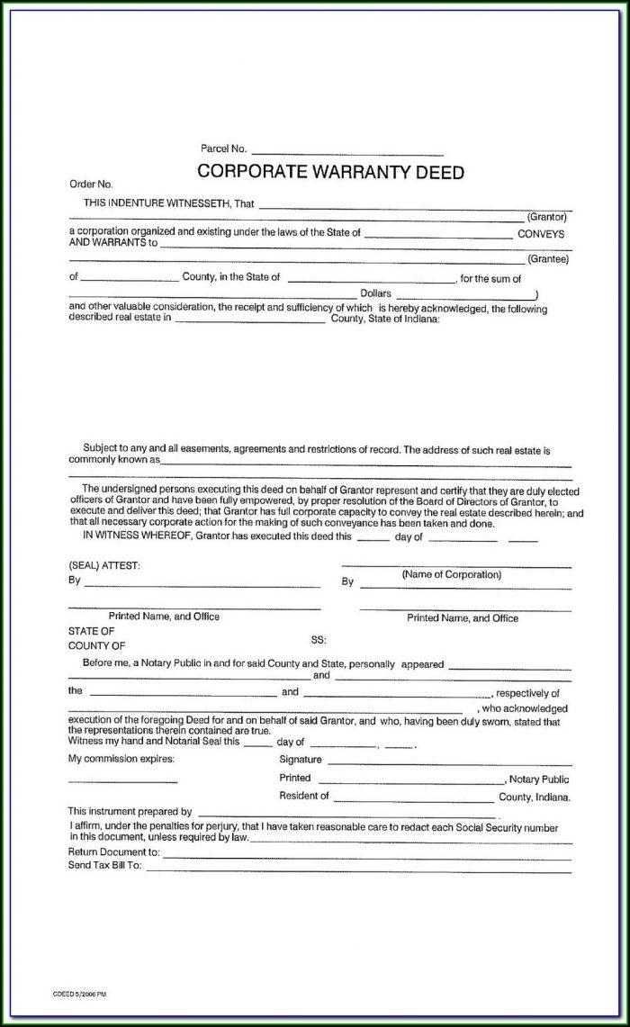 Iowa State Bar Association Warranty Deed Form