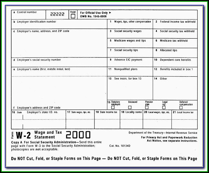 Irs E File W2 Forms