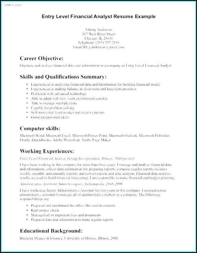 Job Resume Samples Objectives