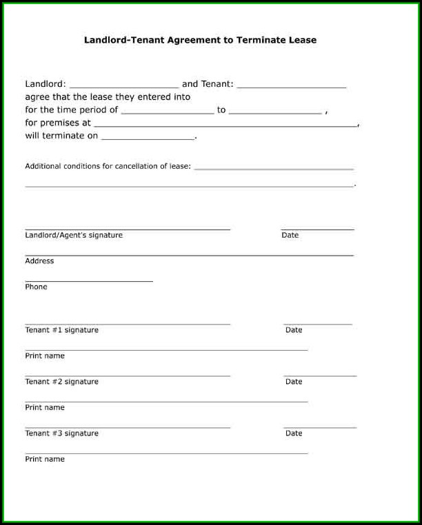 Landlord Tenant Agreement Form Pdf